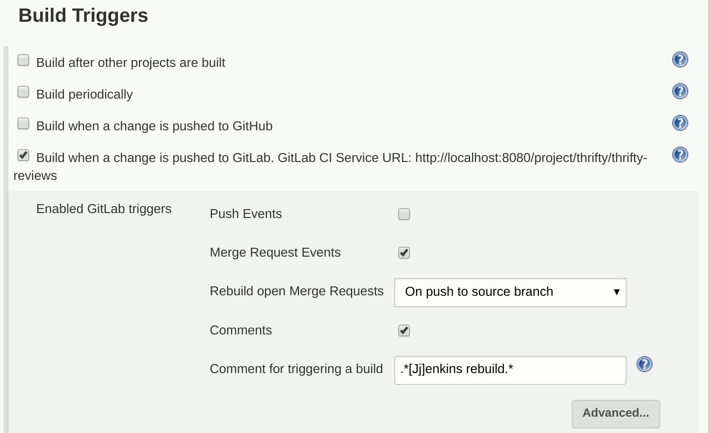 Gitlab trigger Jenkins builds on merge request